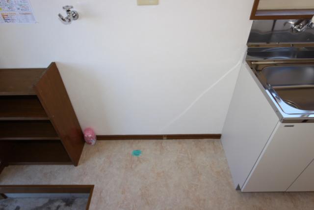 洗濯機置場、冷蔵庫置き場