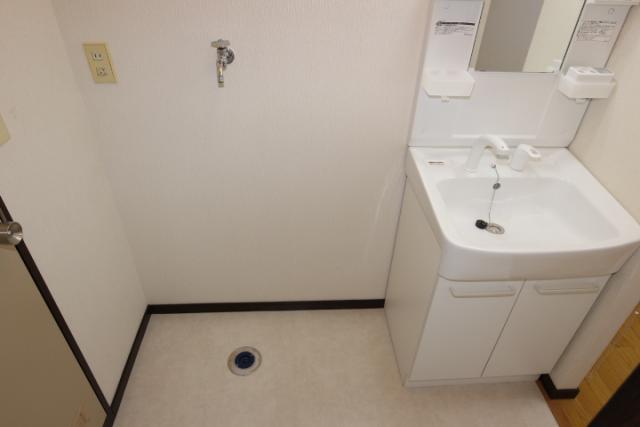 洗濯機置き場、洗髪洗面化粧台