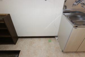冷蔵庫、洗濯機置き場
